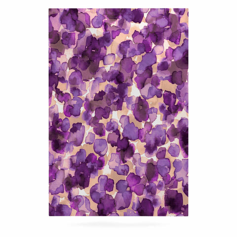 "Ebi Emporium ""WILD THING, PURPLE"" Purple Lavender Animal Print Abstract Watercolor Mixed Media Luxe Rectangle Panel"