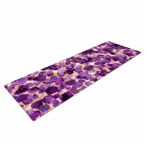 "Ebi Emporium ""WILD THING, PURPLE"" Purple Lavender Animal Print Abstract Watercolor Mixed Media Yoga Mat"