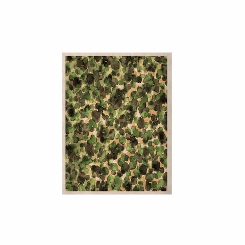 "Ebi Emporium ""WILD THING, CAMO GREEN"" Green Olive Animal Print Abstract Watercolor Mixed Media KESS Naturals Canvas (Frame not Included)"