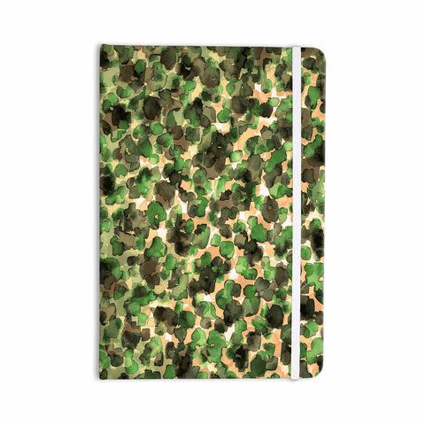 "Ebi Emporium ""WILD THING, CAMO GREEN"" Green Olive Animal Print Abstract Watercolor Mixed Media Everything Notebook"