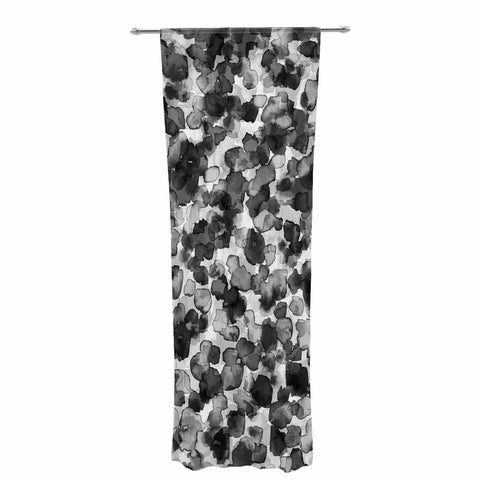 "Ebi Emporium ""WILD THING, GRAYSCALE"" Gray Black Animal Print Abstract Watercolor Mixed Media Decorative Sheer Curtain"