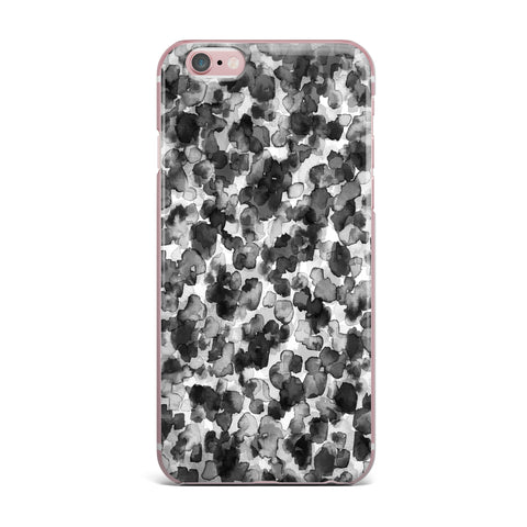"Ebi Emporium ""WILD THING, GRAYSCALE"" Gray Black Animal Print Abstract Watercolor Mixed Media iPhone Case"