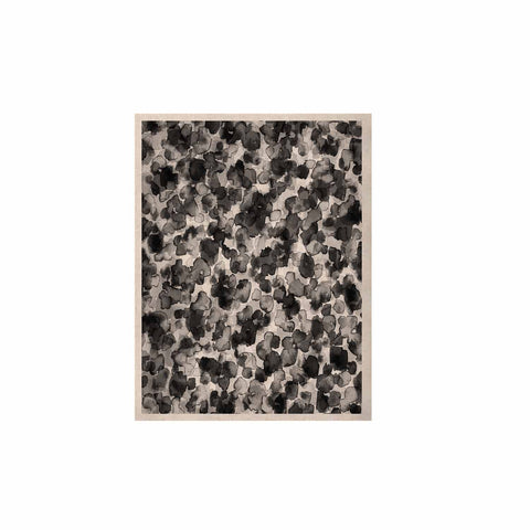 "Ebi Emporium ""WILD THING, GRAYSCALE"" Gray Black Animal Print Abstract Watercolor Mixed Media KESS Naturals Canvas (Frame not Included)"