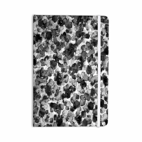 "Ebi Emporium ""WILD THING, GRAYSCALE"" Gray Black Animal Print Abstract Watercolor Mixed Media Everything Notebook"