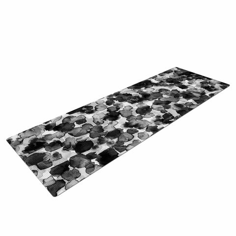 "Ebi Emporium ""WILD THING, GRAYSCALE"" Gray Black Animal Print Abstract Watercolor Mixed Media Yoga Mat"