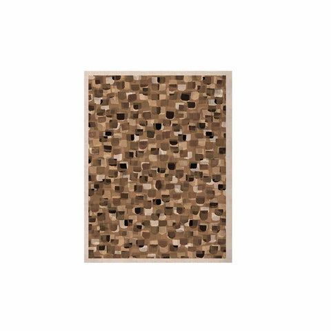 "Ebi Emporium ""SEEING SPOTS 11"" Brown Tan Polkadot Pattern Watercolor Mixed Media KESS Naturals Canvas (Frame not Included)"