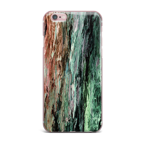 "Ebi Emporium ""RAINBOW BARK 2"" Green Red Abstract Nature Painting Mixed Media iPhone Case"