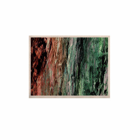 "Ebi Emporium ""RAINBOW BARK 2"" Green Red Abstract Nature Painting Mixed Media KESS Naturals Canvas (Frame not Included)"