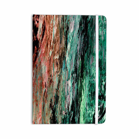 "Ebi Emporium ""RAINBOW BARK 2"" Green Red Abstract Nature Painting Mixed Media Everything Notebook"