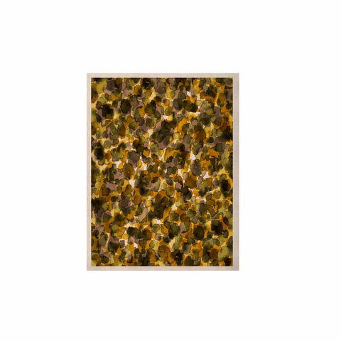 "Ebi Emporium ""WILD THING, YELLOW BROWN"" Yellow Brown Animal Print Abstract Watercolor Mixed Media KESS Naturals Canvas (Frame not Included)"