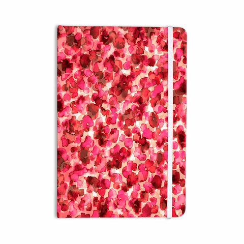 "Ebi Emporium ""WILD THING, RED PINK"" Red Pink Animal Print Abstract Watercolor Mixed Media Everything Notebook"