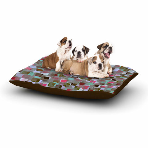 "Ebi Emporium ""SEEING SPOTS 4"" Multicolor Magenta Polkadot Pattern Watercolor Mixed Media Dog Bed"