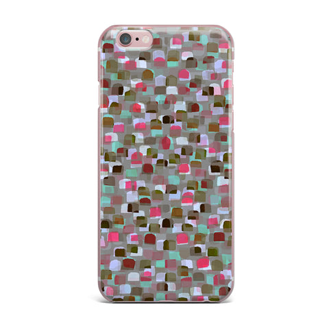 "Ebi Emporium ""SEEING SPOTS 4"" Multicolor Magenta Polkadot Pattern Watercolor Mixed Media iPhone Case"