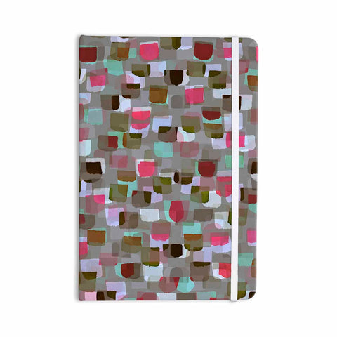 "Ebi Emporium ""SEEING SPOTS 4"" Multicolor Magenta Polkadot Pattern Watercolor Mixed Media Everything Notebook"