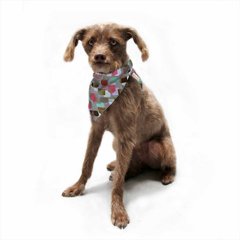 "Ebi Emporium ""SEEING SPOTS 4"" Multicolor Magenta Polkadot Pattern Watercolor Mixed Media Pet Bandana"