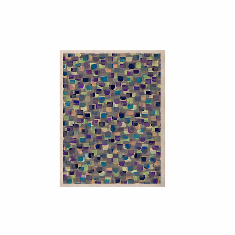 "Ebi Emporium ""SEEING SPOTS 1"" Multicolor Purple Polkadot Pattern Watercolor Mixed Media KESS Naturals Canvas (Frame not Included)"