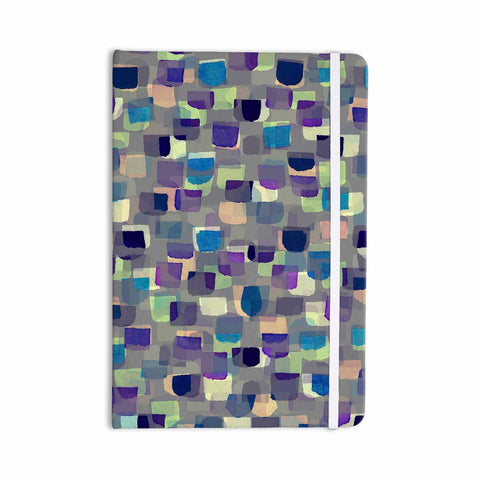 "Ebi Emporium ""SEEING SPOTS 1"" Multicolor Purple Polkadot Pattern Watercolor Mixed Media Everything Notebook"