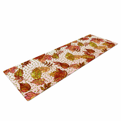 "Ebi Emporium ""AUTUMN OMBRE, PINK GREEN"" Pink,Green,Nature,Pattern,Watercolor,Mixed Media Yoga Mat"