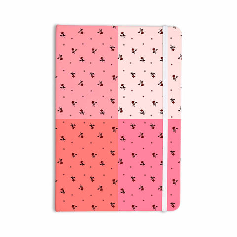 "Ebi Emporium ""COLORBLOCK FLORAL 7"" Pink,Pastel,Modern,Floral,Mixed Media,Watercolor Everything Notebook"