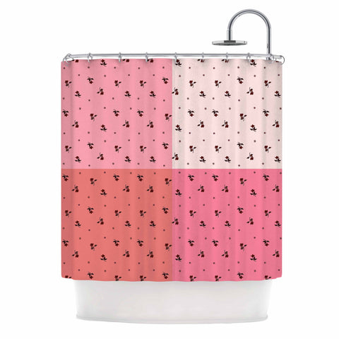 "Ebi Emporium ""COLORBLOCK FLORAL 7"" Pink,Pastel,Modern,Floral,Mixed Media,Watercolor Shower Curtain"