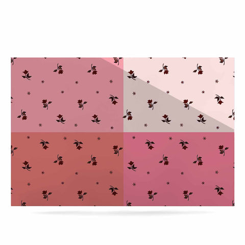 "Ebi Emporium ""COLORBLOCK FLORAL 7"" Pink,Pastel,Modern,Floral,Mixed Media,Watercolor Luxe Rectangle Panel"