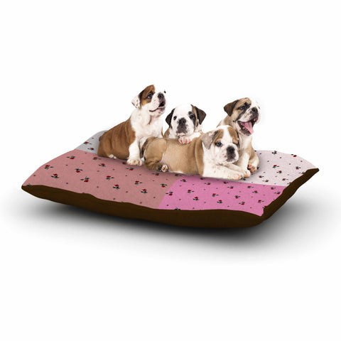 "Ebi Emporium ""COLORBLOCK FLORAL 2"" Pastel,Pink,Modern,Floral,Mixed Media,Watercolor Dog Bed"