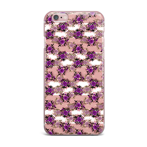 "Ebi Emporium ""CHEVRON ROSES, PURPLE PINK"" Purple,Pink,Floral,Pattern,Mixed Media,Watercolor iPhone Case"