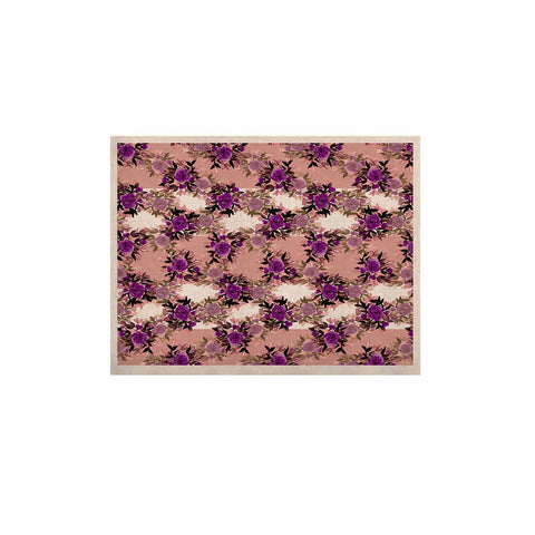 "Ebi Emporium ""CHEVRON ROSES, PURPLE PINK"" Purple,Pink,Floral,Pattern,Mixed Media,Watercolor KESS Naturals Canvas (Frame not Included)"