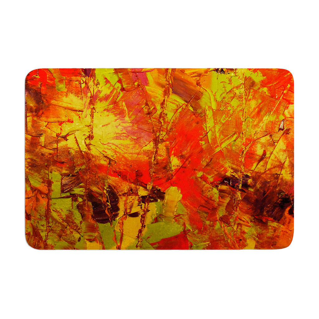 "Jeff Ferst ""Autumn"" Orange Red Memory Foam Bath Mat - KESS InHouse"
