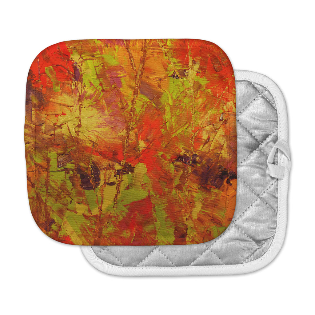 "Jeff Ferst ""Autumn"" Orange Red Pot Holder"