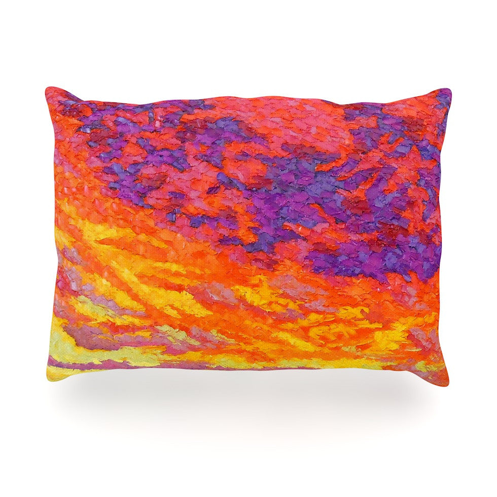"Jeff Ferst ""View From the Foothills"" Orange Purple Oblong Pillow - KESS InHouse"