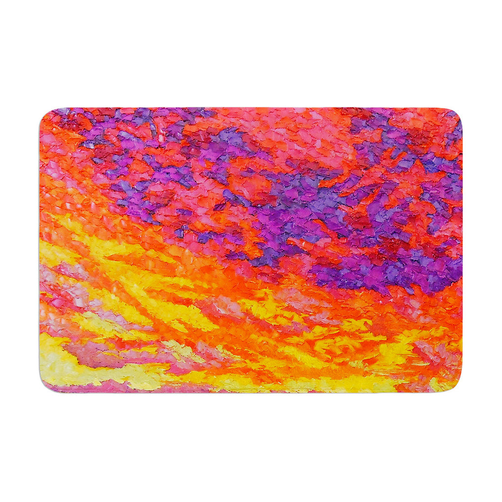 "Jeff Ferst ""View From the Foothills"" Orange Purple Memory Foam Bath Mat - KESS InHouse"