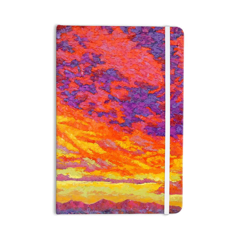 "Jeff Ferst ""View From the Foothills"" Orange Purple Everything Notebook - KESS InHouse  - 1"