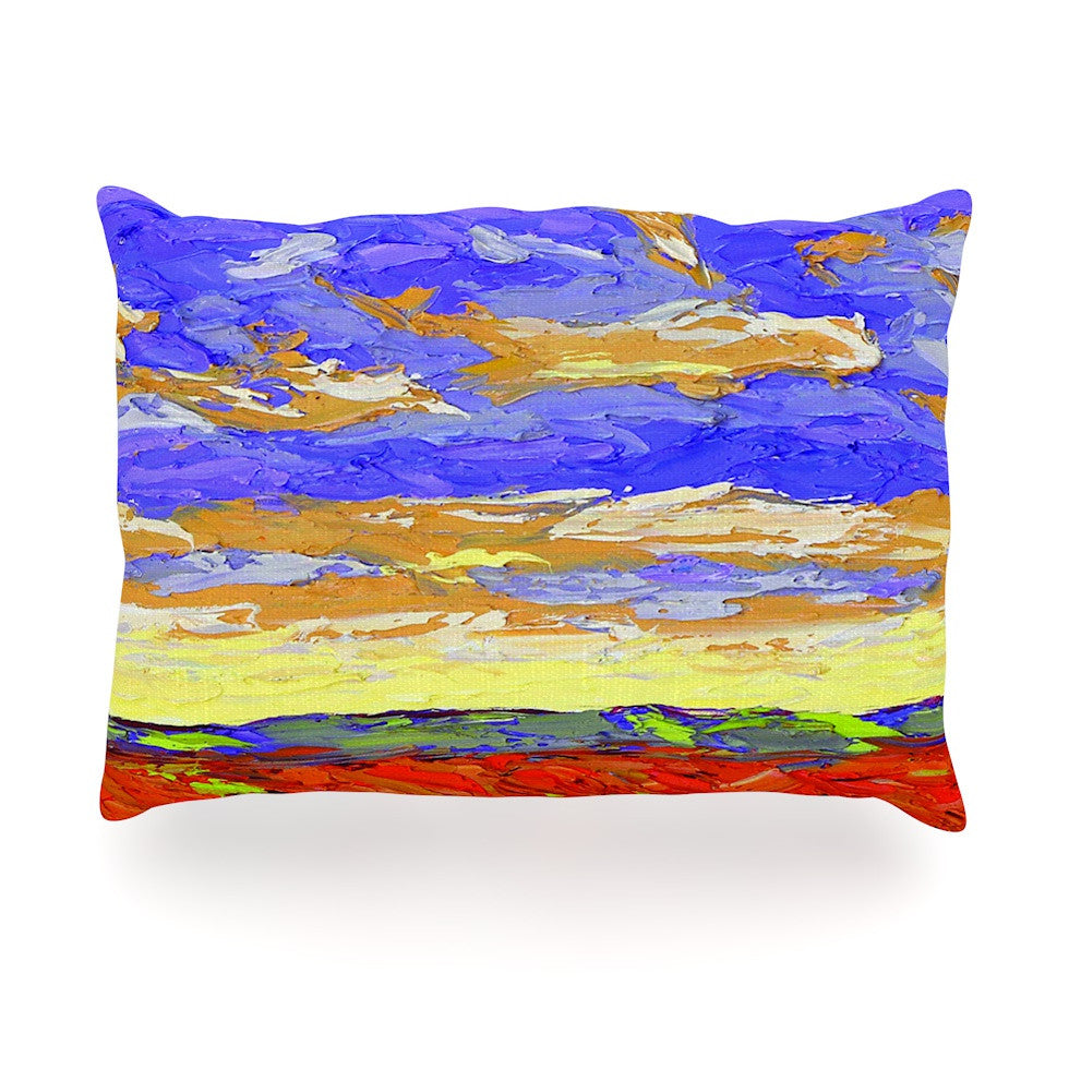 "Jeff Ferst ""After the Storm"" Blue Yellow Oblong Pillow - KESS InHouse"