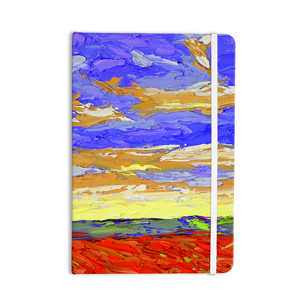 "Jeff Ferst ""After the Storm"" Blue Yellow Everything Notebook - KESS InHouse  - 1"