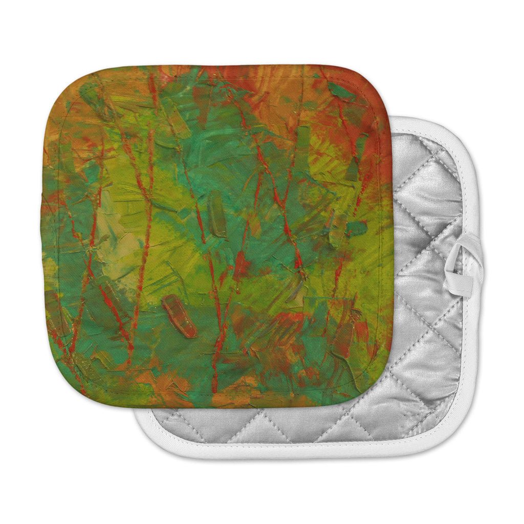 "Jeff Ferst ""Evergreens"" Green Red Pot Holder"
