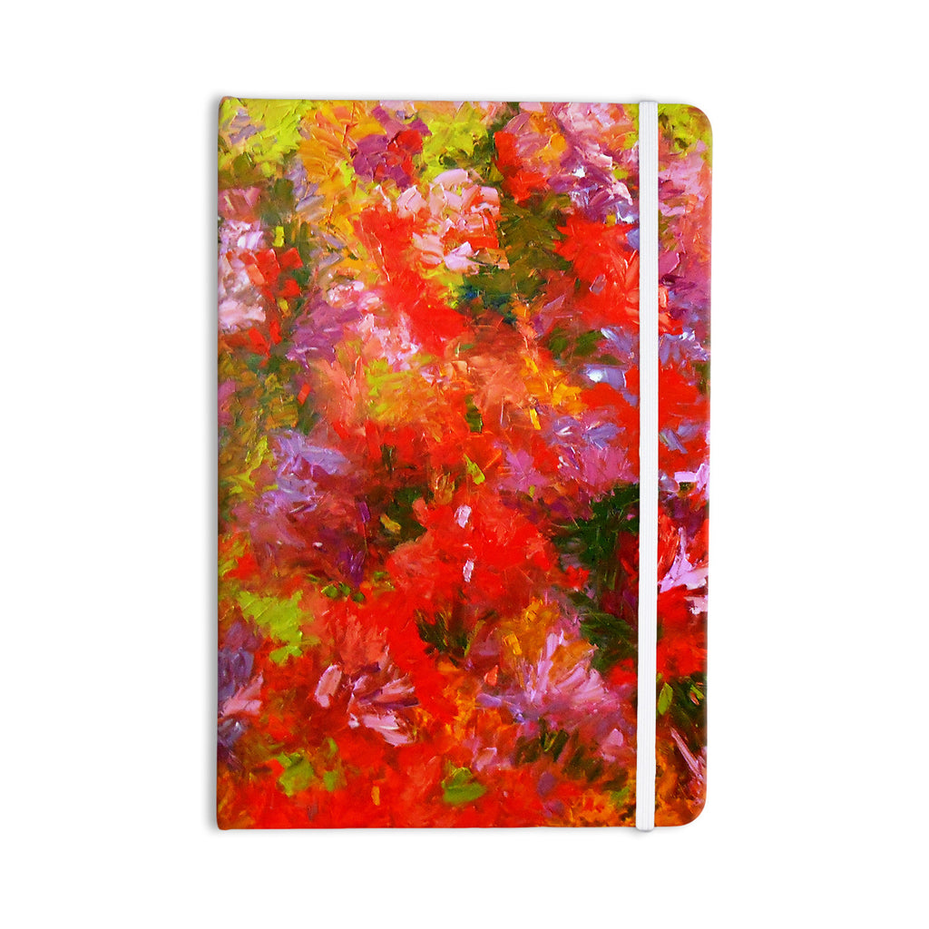 "Jeff Ferst ""Summer Garden"" Floral Painting Everything Notebook - KESS InHouse  - 1"