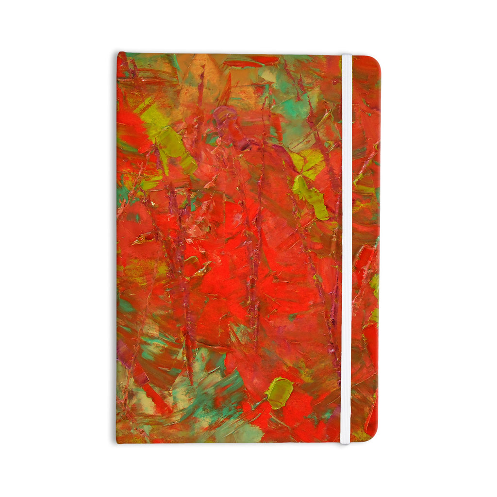 "Jeff Ferst ""Crimson Forest"" Red Green Everything Notebook - KESS InHouse  - 1"