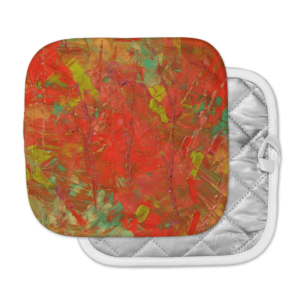 "Jeff Ferst ""Crimson Forest"" Red Green Pot Holder"