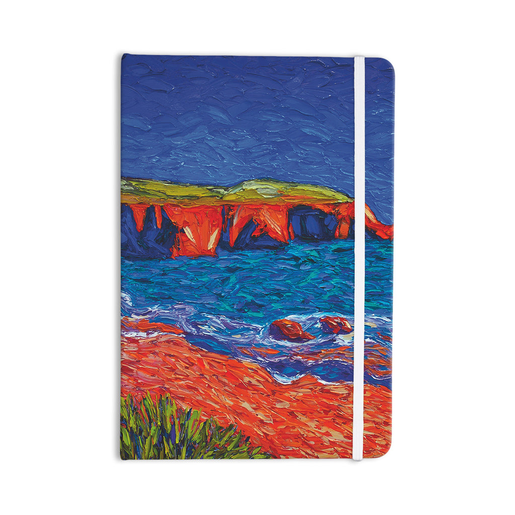 "Jeff Ferst ""Sea Shore"" Coastal Painting Everything Notebook - KESS InHouse  - 1"