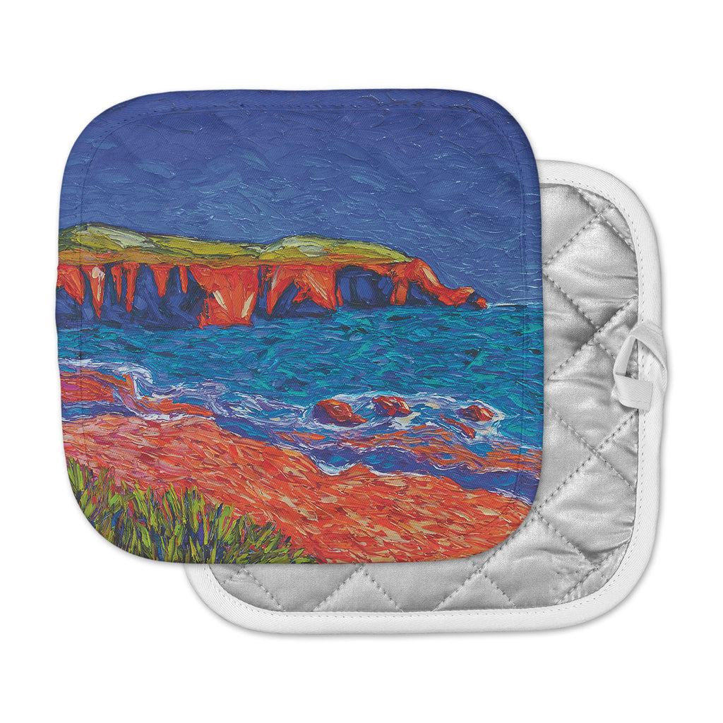 "Jeff Ferst ""Sea Shore"" Coastal Painting Pot Holder"