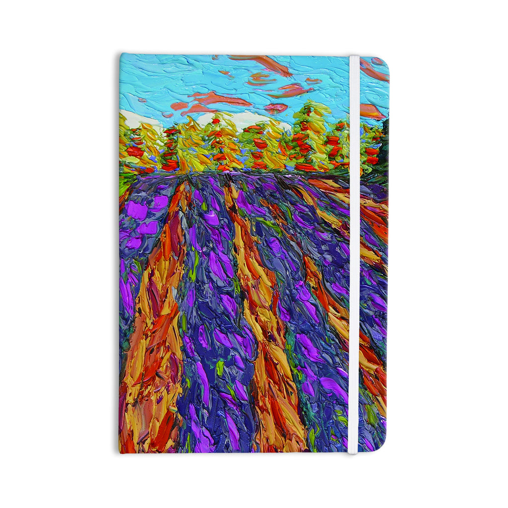 "Jeff Ferst ""Flowers in the Field"" Orange Purple Everything Notebook - KESS InHouse  - 1"