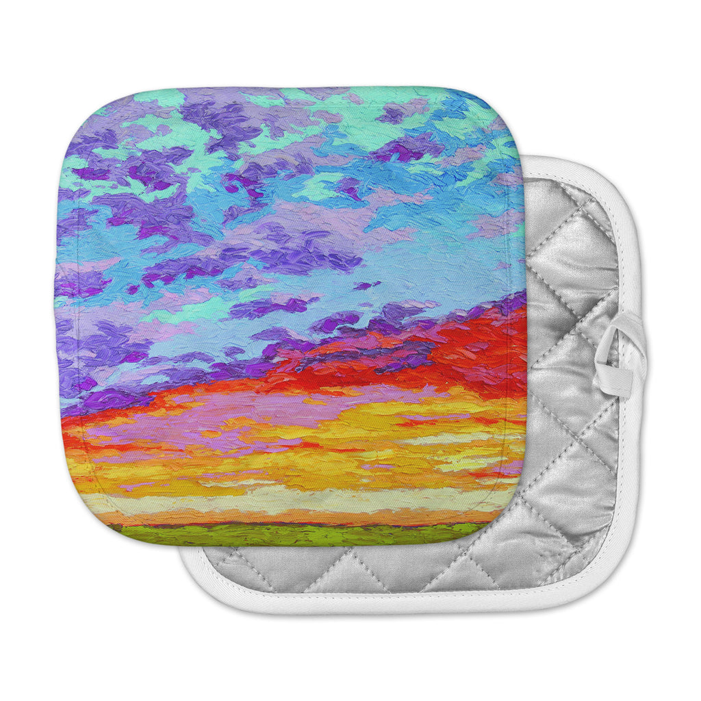 "Jeff Ferst ""Dancing Clouds"" Blue Sunset Pot Holder"