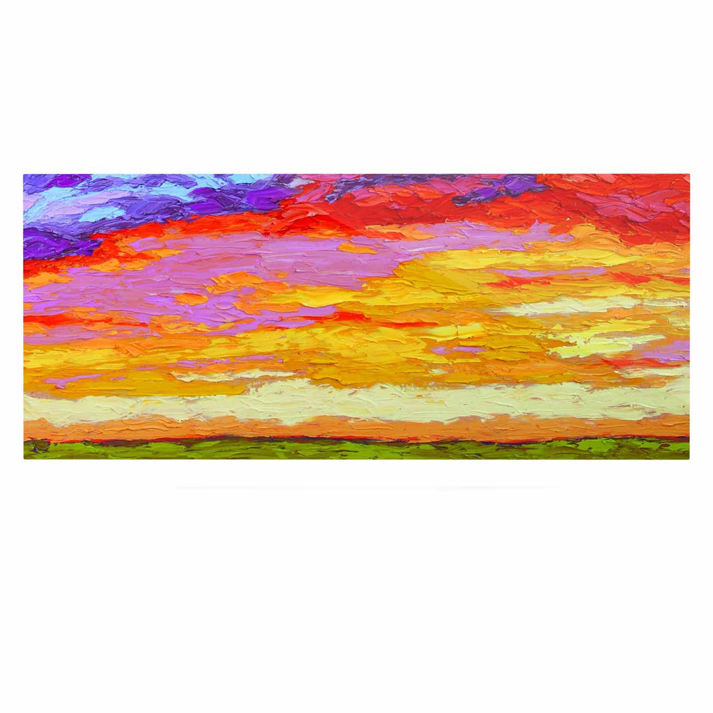 "Jeff Ferst ""Dancing Clouds"" Blue Sunset Luxe Rectangle Panel - KESS InHouse  - 1"