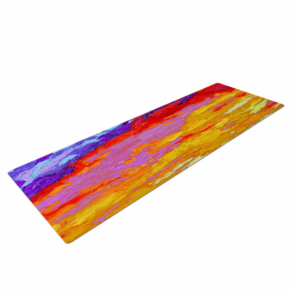 "Jeff Ferst ""Dancing Clouds"" Blue Sunset Yoga Mat - KESS InHouse  - 1"