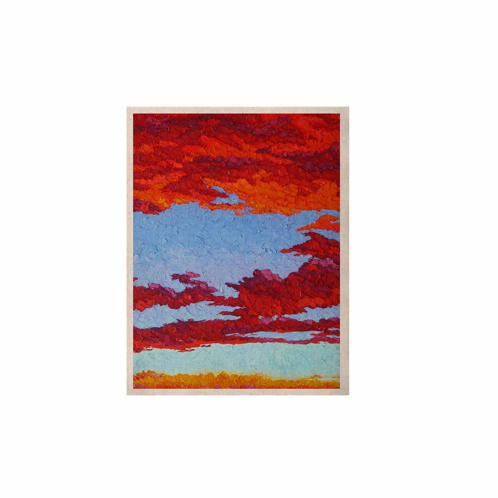 "Jeff Ferst ""Spring Sunset Over Wildflowers"" Red Blue KESS Naturals Canvas (Frame not Included) - KESS InHouse  - 1"