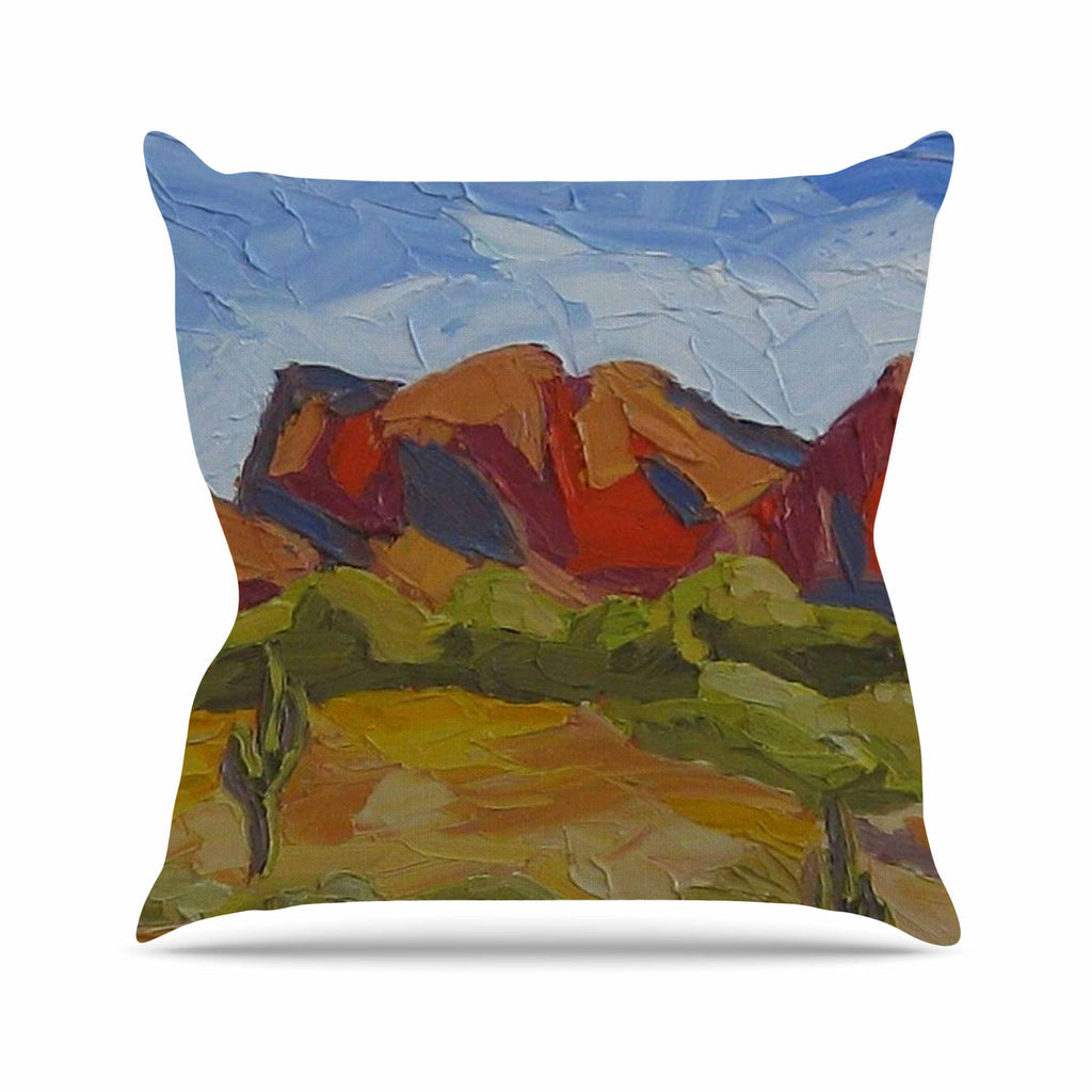 "Jeff Ferst ""Arizona"" Desert Mountain Outdoor Throw Pillow - KESS InHouse  - 1"