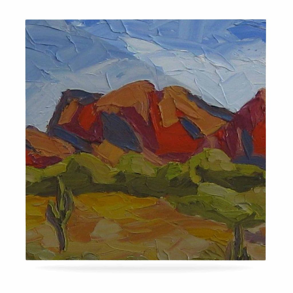 "Jeff Ferst ""Arizona"" Desert Mountain Luxe Square Panel - KESS InHouse  - 1"