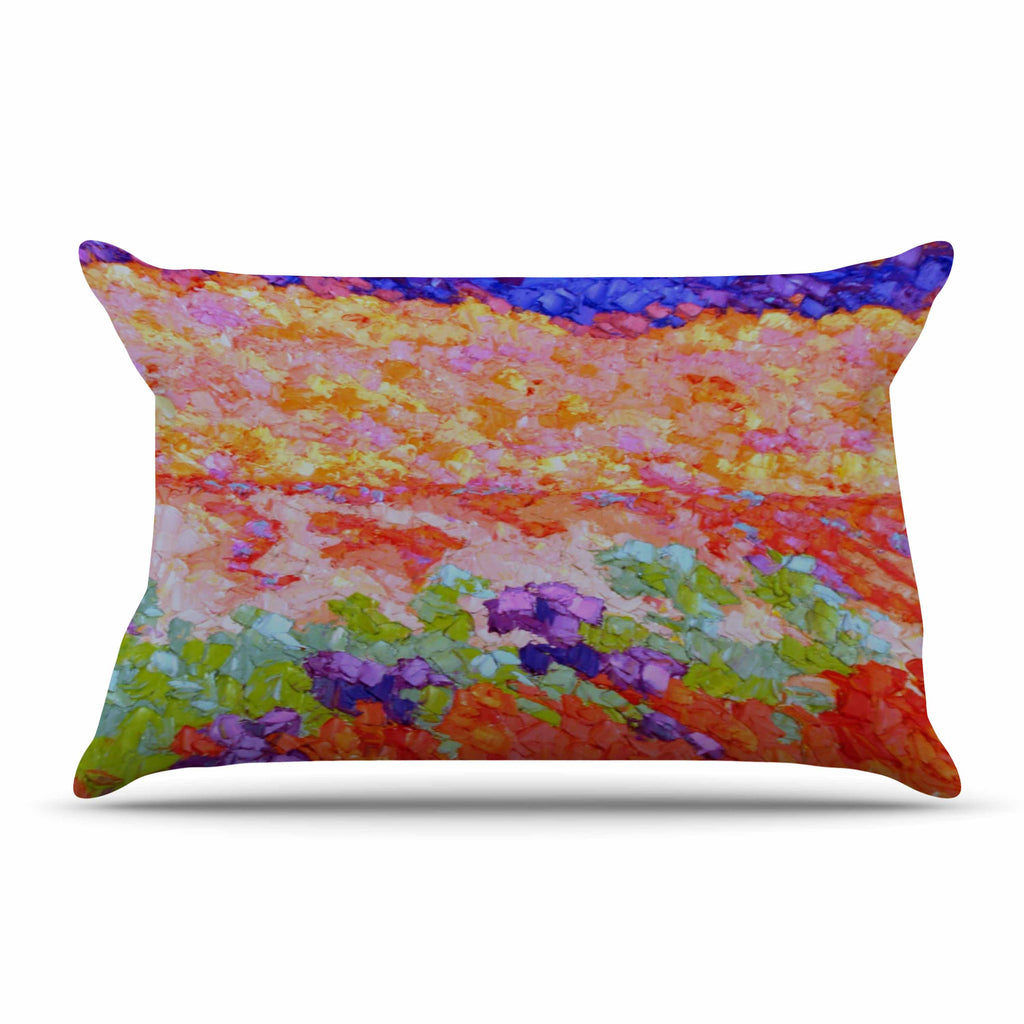 "Jeff Ferst ""Earthly Delights"" Floral Abstract Pillow Sham - KESS InHouse"