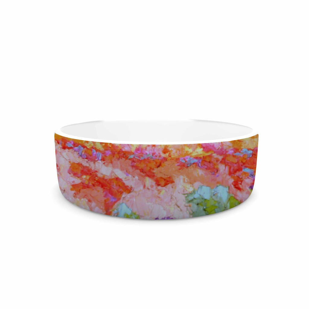 "Jeff Ferst ""Earthly Delights"" Floral Abstract Pet Bowl - KESS InHouse"